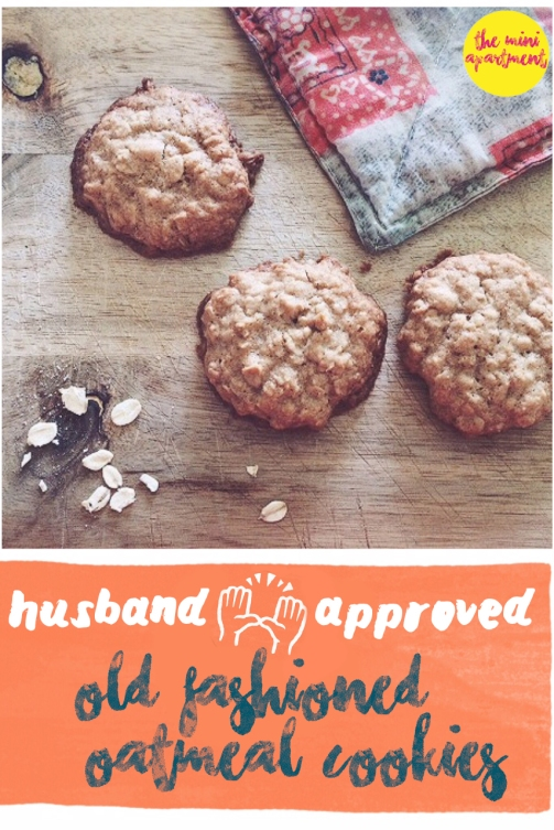 The Mini Apartment - Husband Approved Oatmeal Cookies
