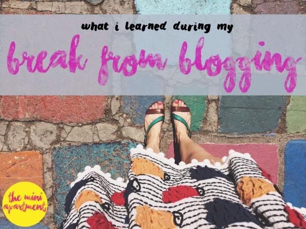 THE MINI APARTMENT break from blogging