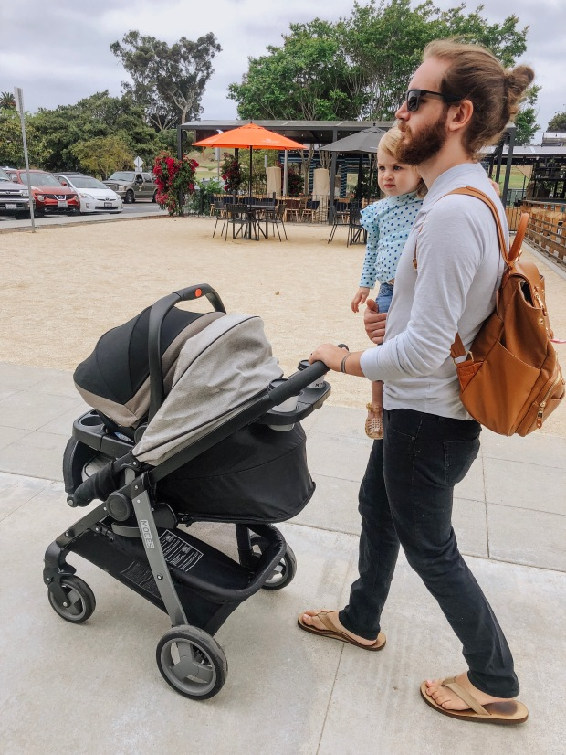 dad pushing stroller dad goals