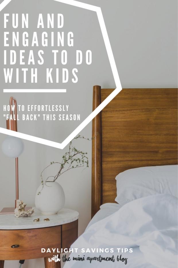 how to do daylight savings with kids