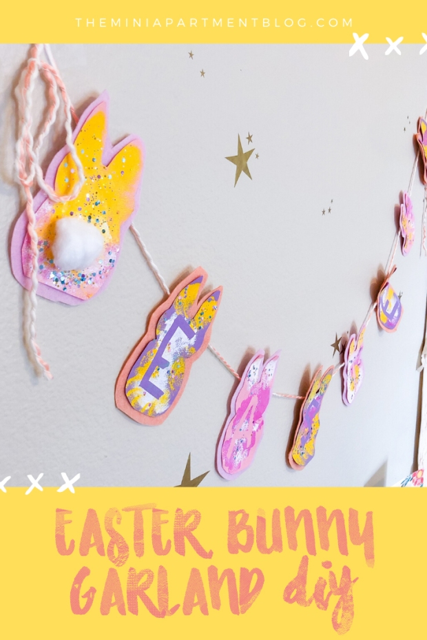 easter bunny wall garland diy activity for kids
